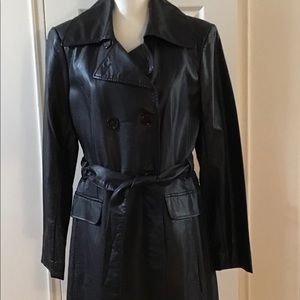 Lord & Taylor faux Leather Coat